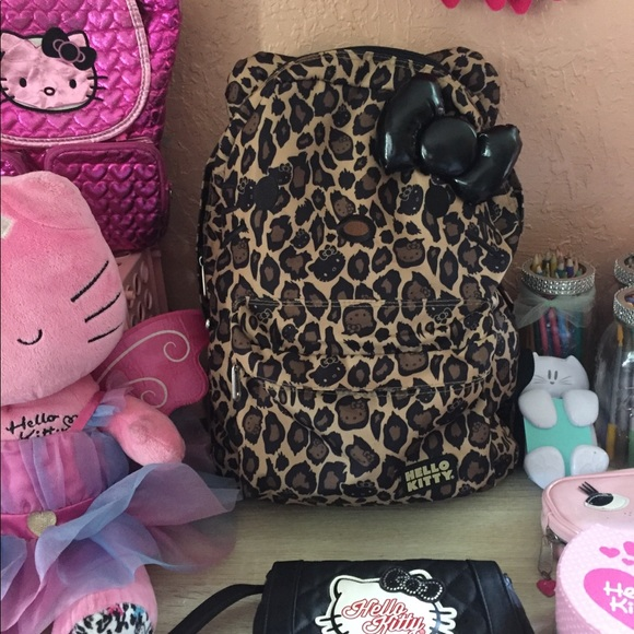 af9a73b067d3 Hello Kitty Handbags - Hello Kitty Leopard Print Backpack by Loungefly